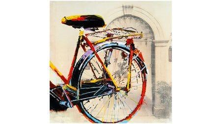 """Картина маслом """" Велосипед - 3 """""""