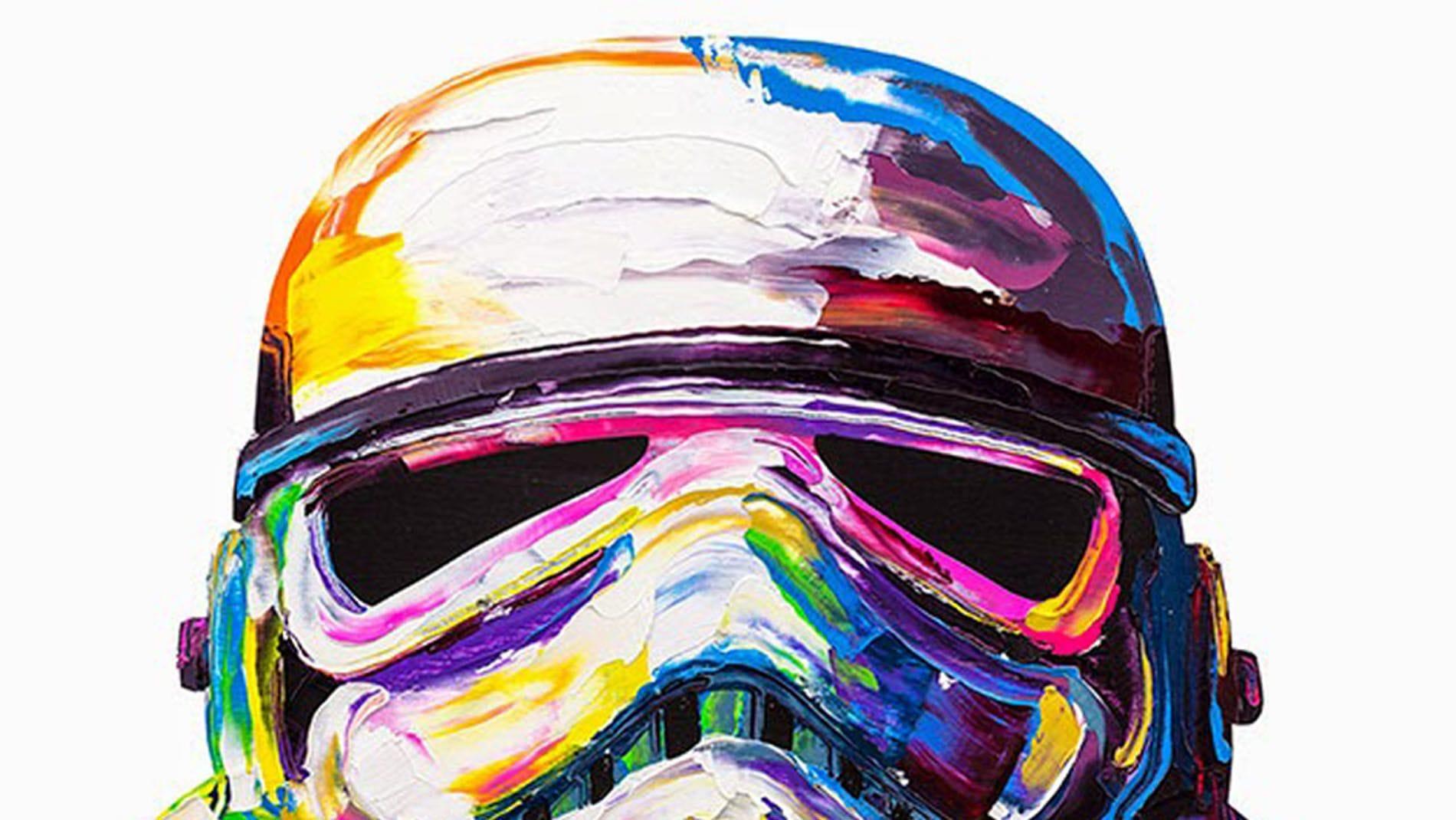 Картина маслом Шлем звездных войн