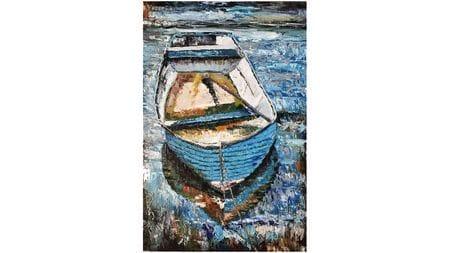 Картина маслом Лодка
