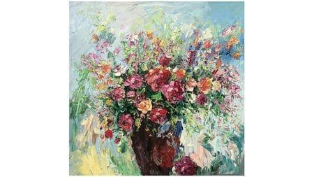 Картина маслом Цветы в горшке