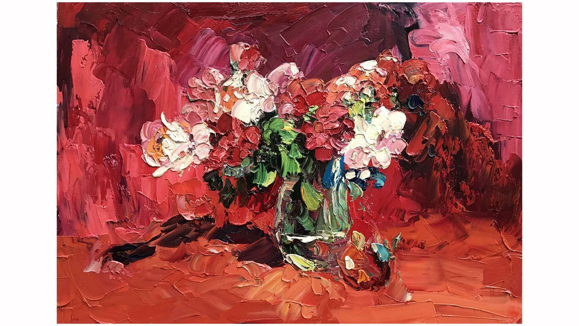 """Картина маслом """" Цветы в вазе """""""