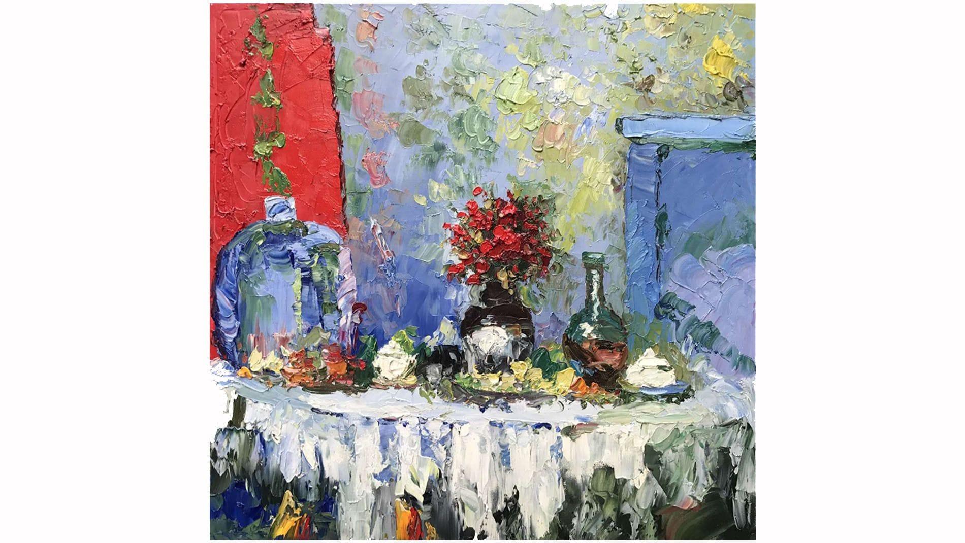 Картина маслом Обед - 2
