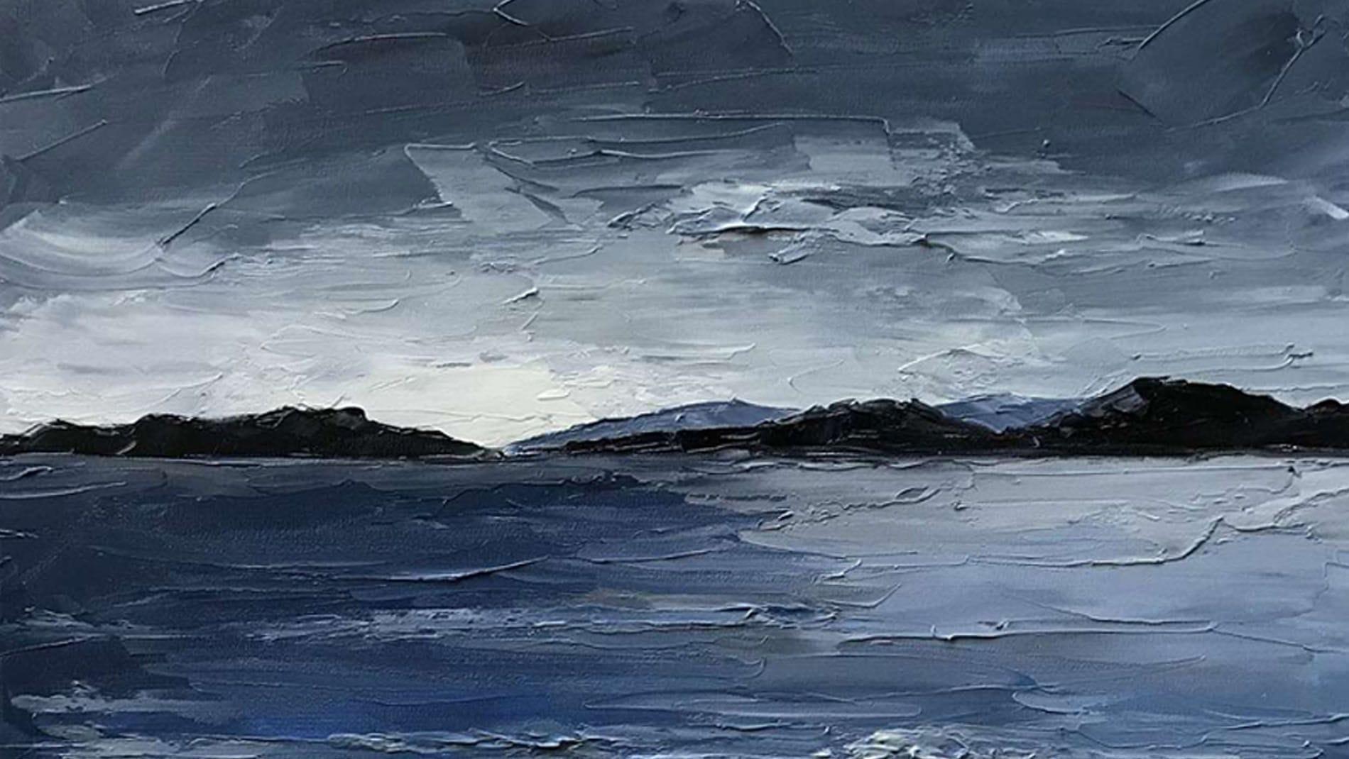 Картина маслом Морской песок
