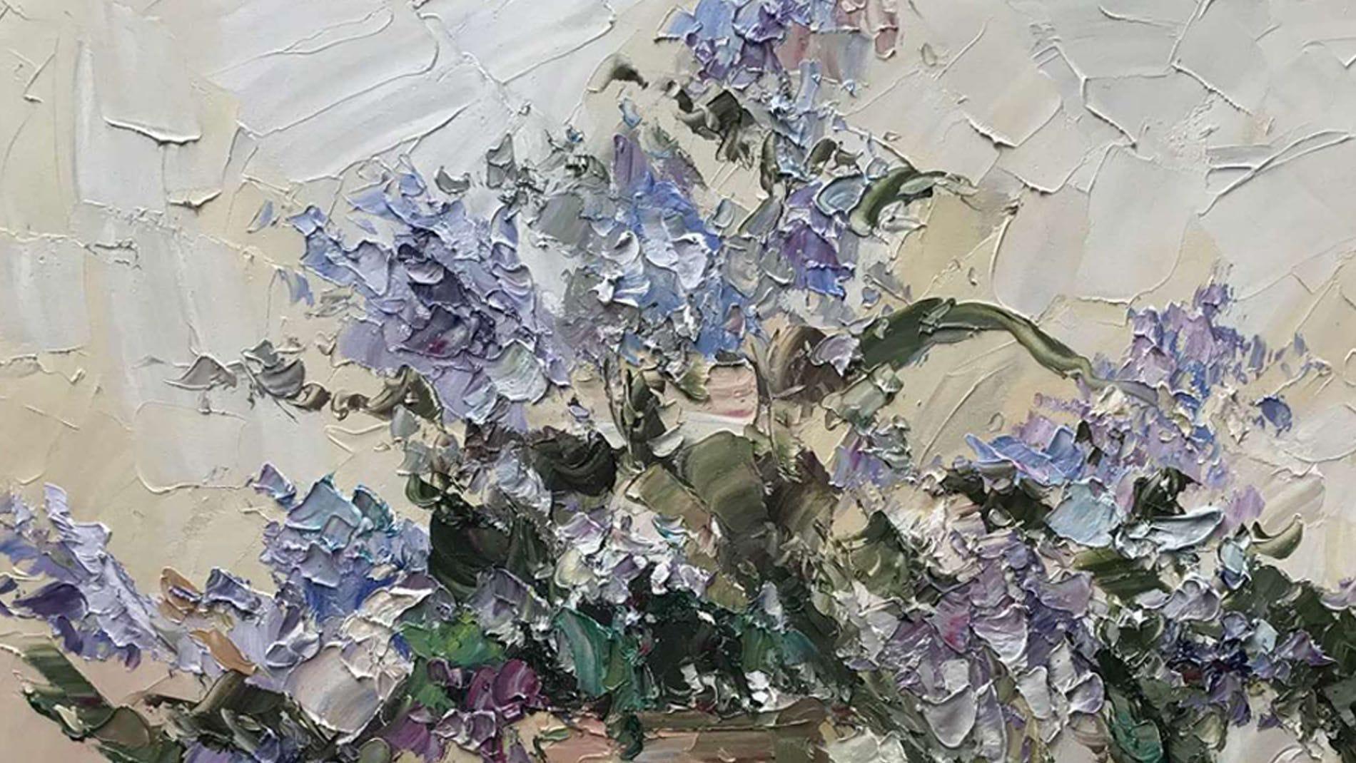 Картина маслом Цветы Виола