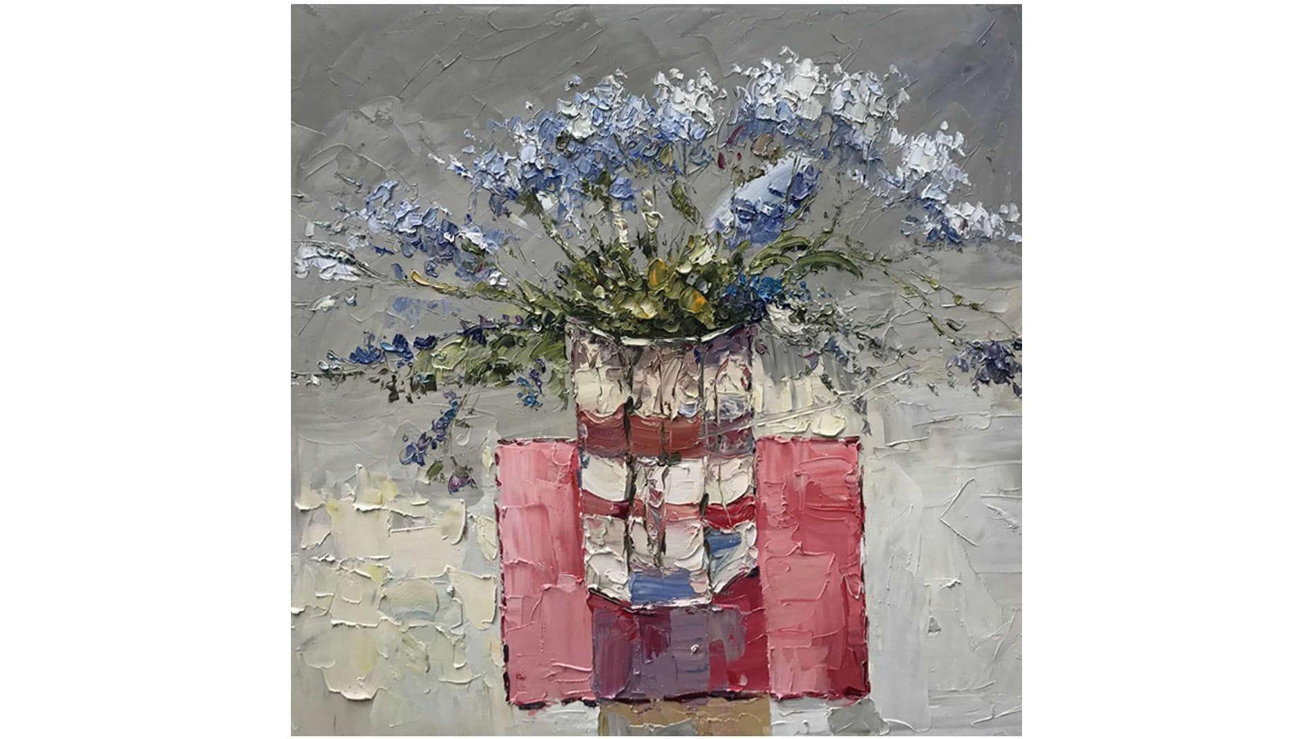 Картина маслом Цветы на столе - 2