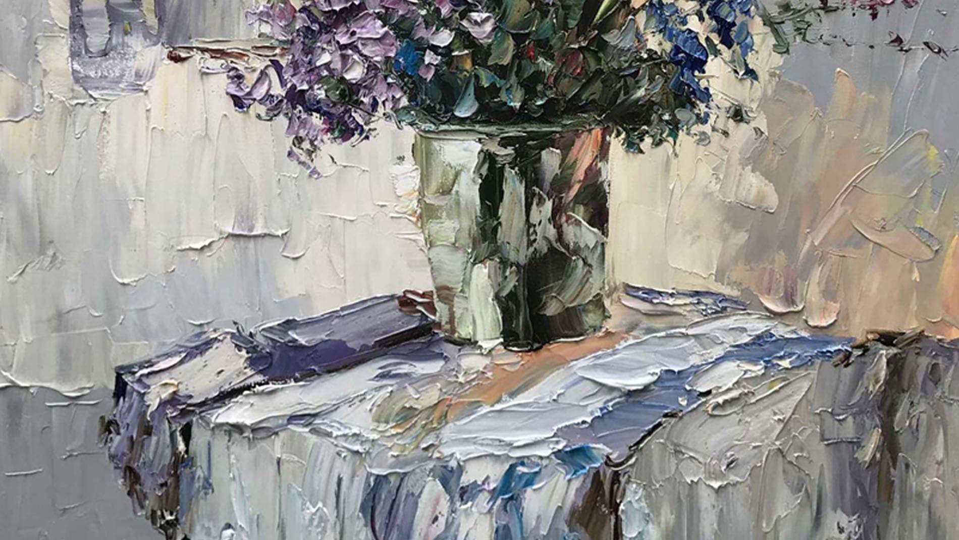 Картина маслом Сине-фиолетовый