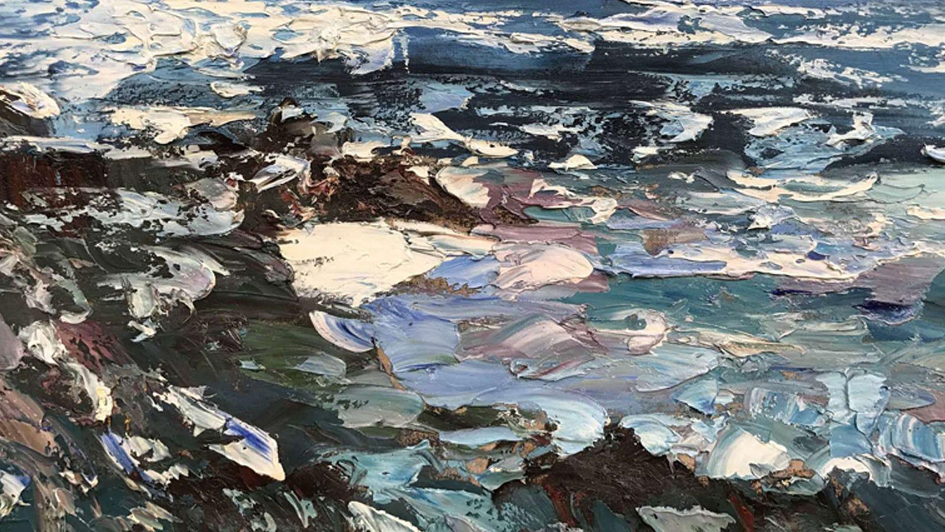 Картина маслом Волны - 2