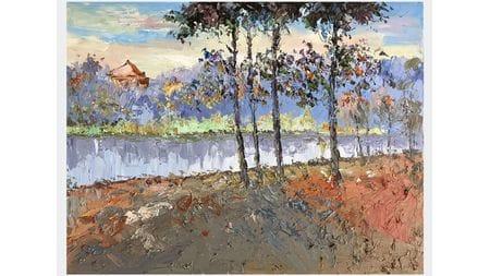 Картина маслом Осенний лес