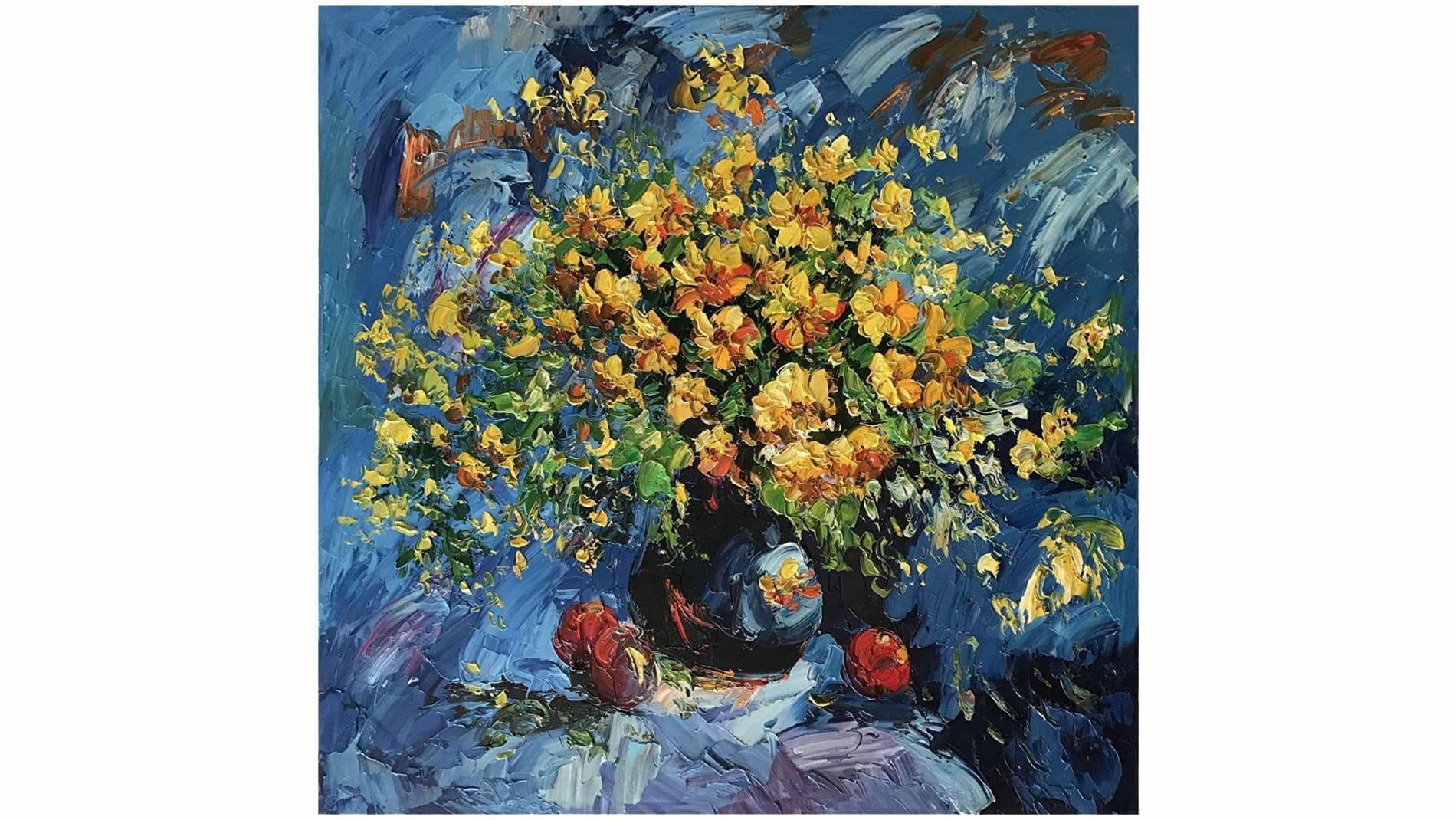 Картина маслом Летние цветы