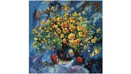 """Картина маслом """" Летние цветы """""""