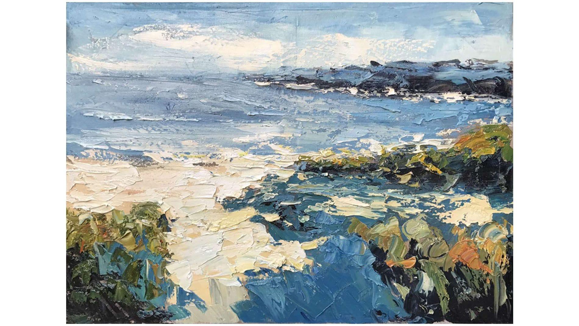 Картина маслом Морской берег