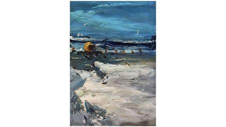 Картина маслом Ветер у моря