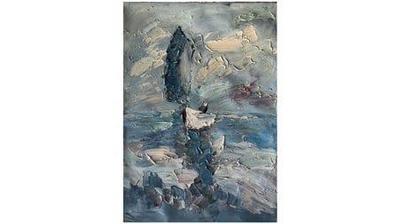 Картина маслом Парусная шлюпка