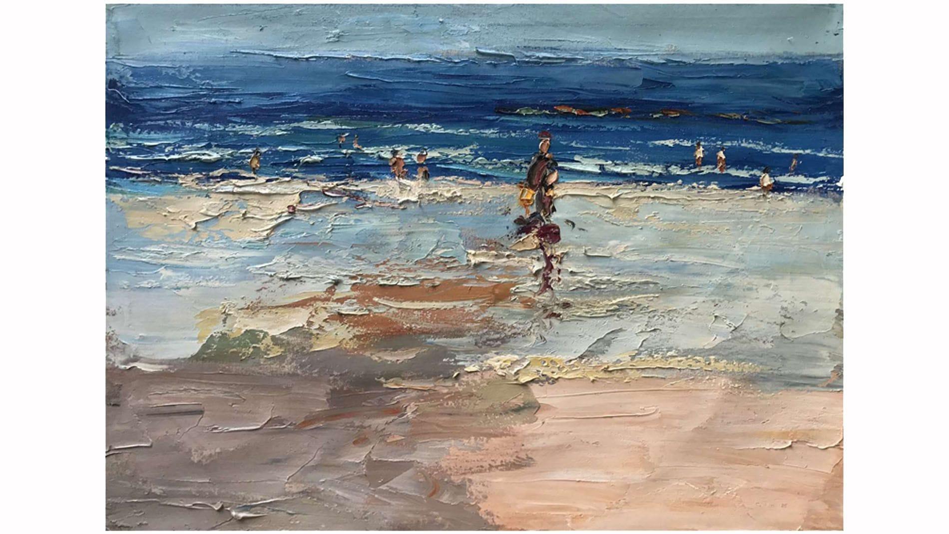 Картина маслом Люди на пляже - 1