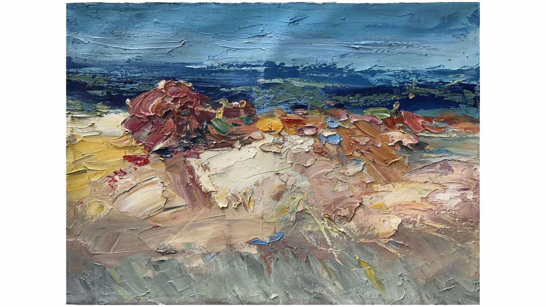 Картина маслом Хижина на берегу