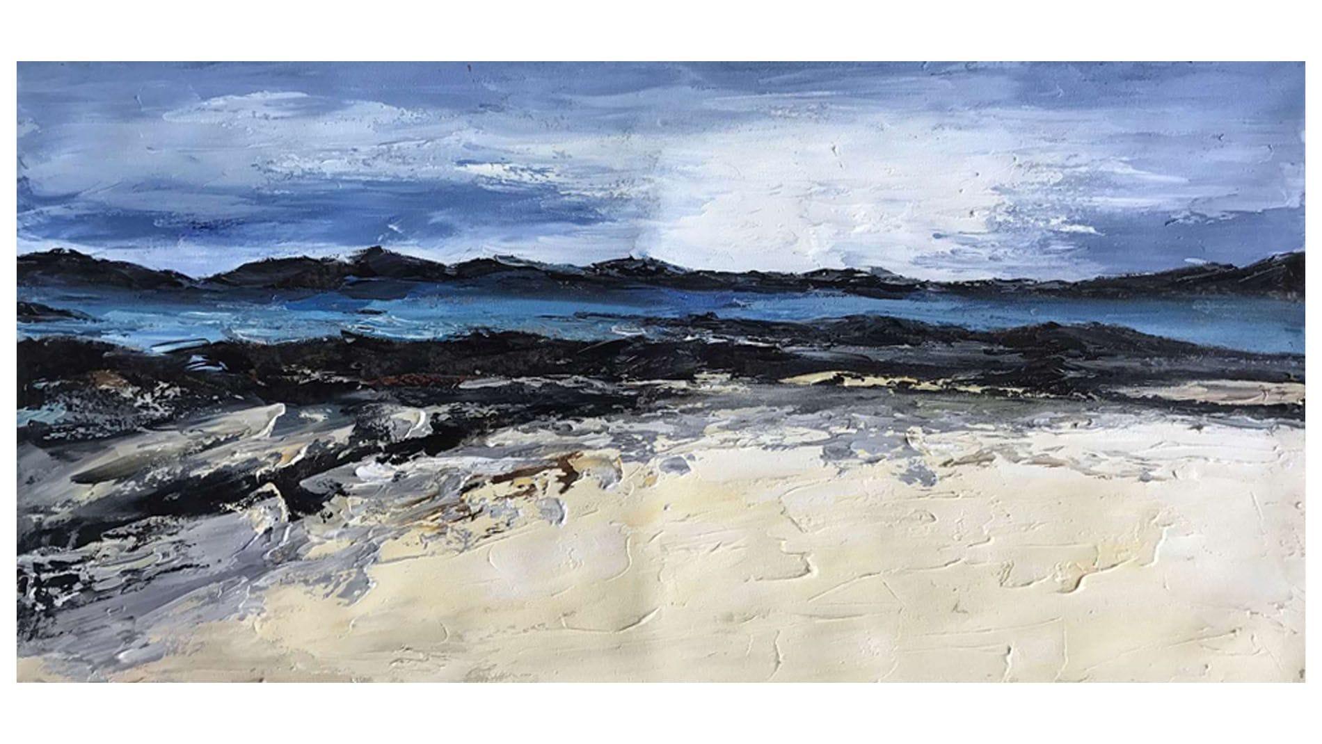 Картина маслом Скалы у моря