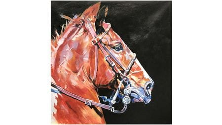 Картина маслом Коричневая лошадь