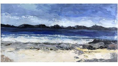 Картина маслом Волны на берегу