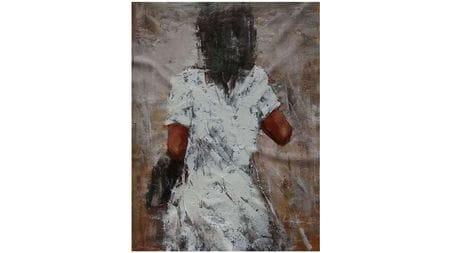 Картина маслом Девушка в белом