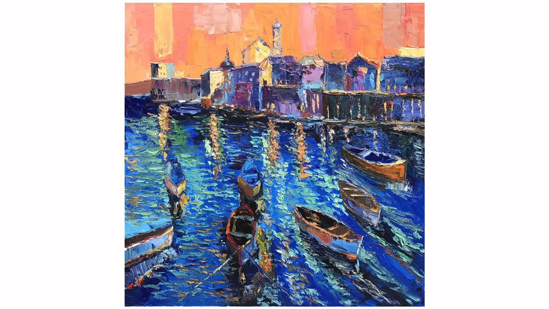 """Картина маслом """" Вечерняя Венеция """""""