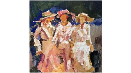 Картина маслом Три девицы