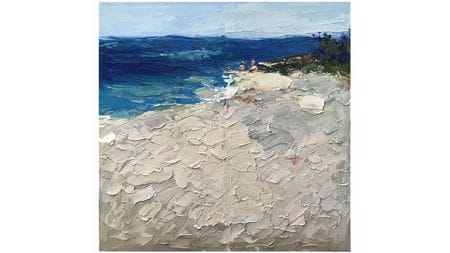 Картина маслом Пляж