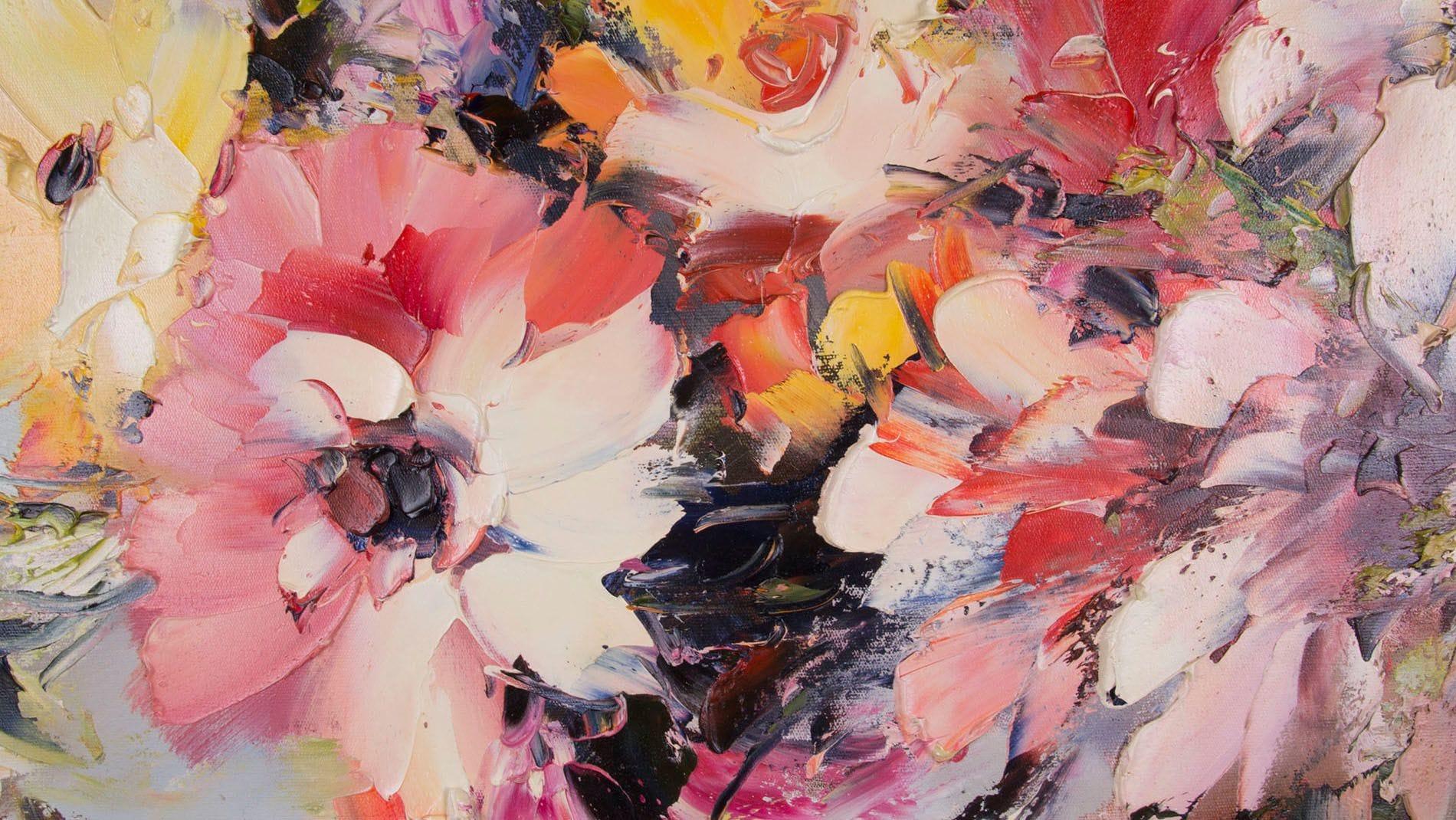 """КАРТИНА МАСЛОМ """" Полевые цветы"""" 90*120 см."""