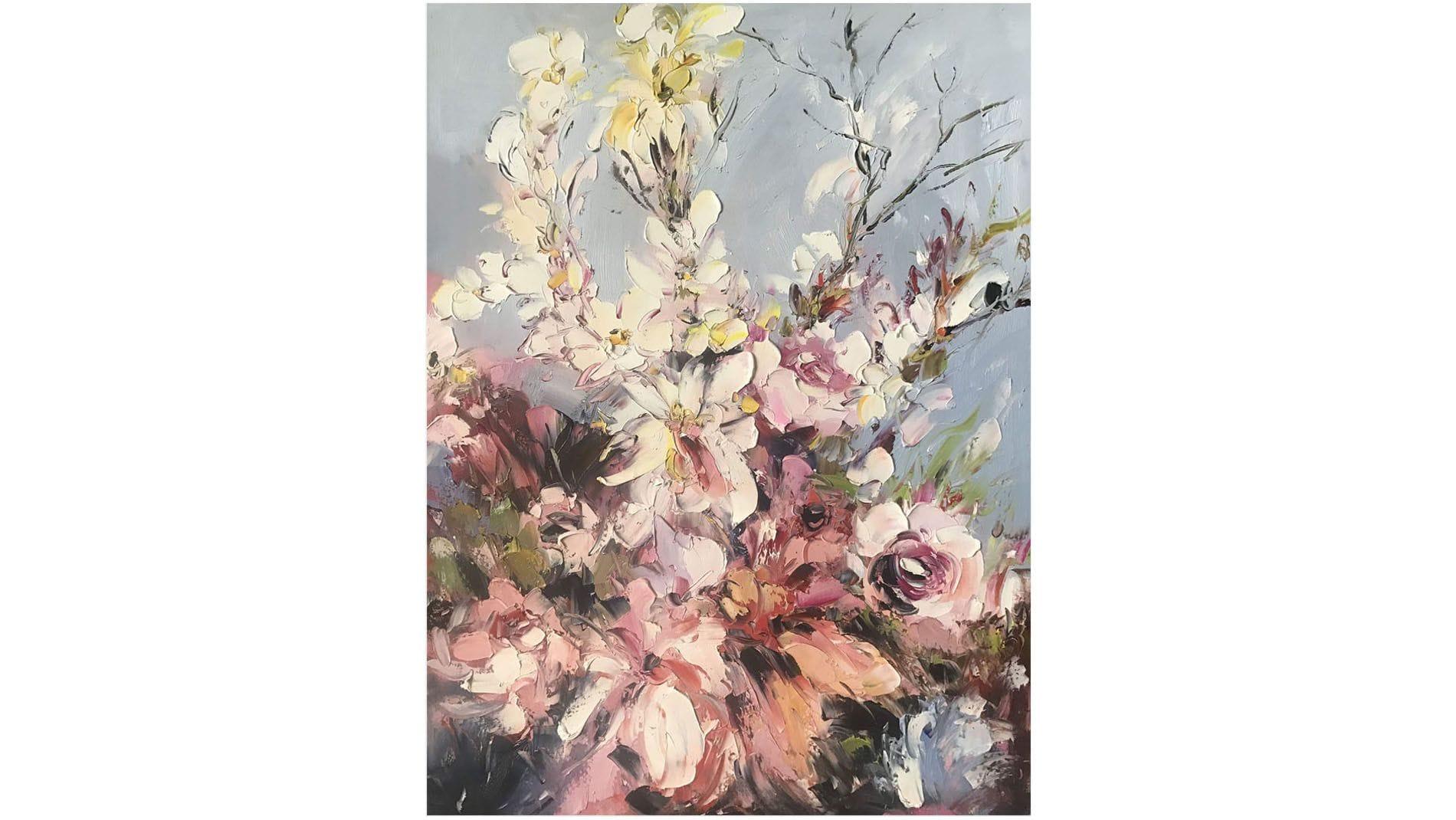 """КАРТИНА МАСЛОМ """"Красивые цветы"""" 90*120 см."""