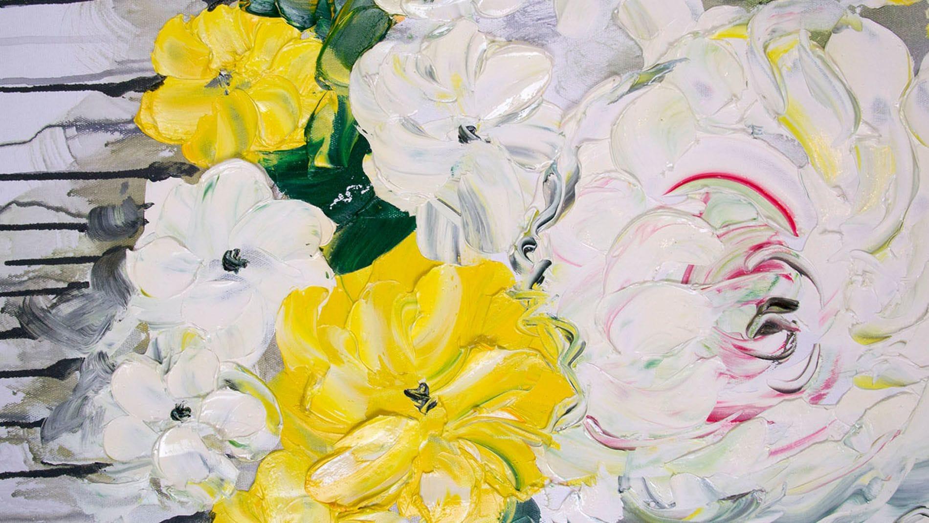 """КАРТИНА МАСЛОМ """" Пионы цветут """" 90*120 см."""