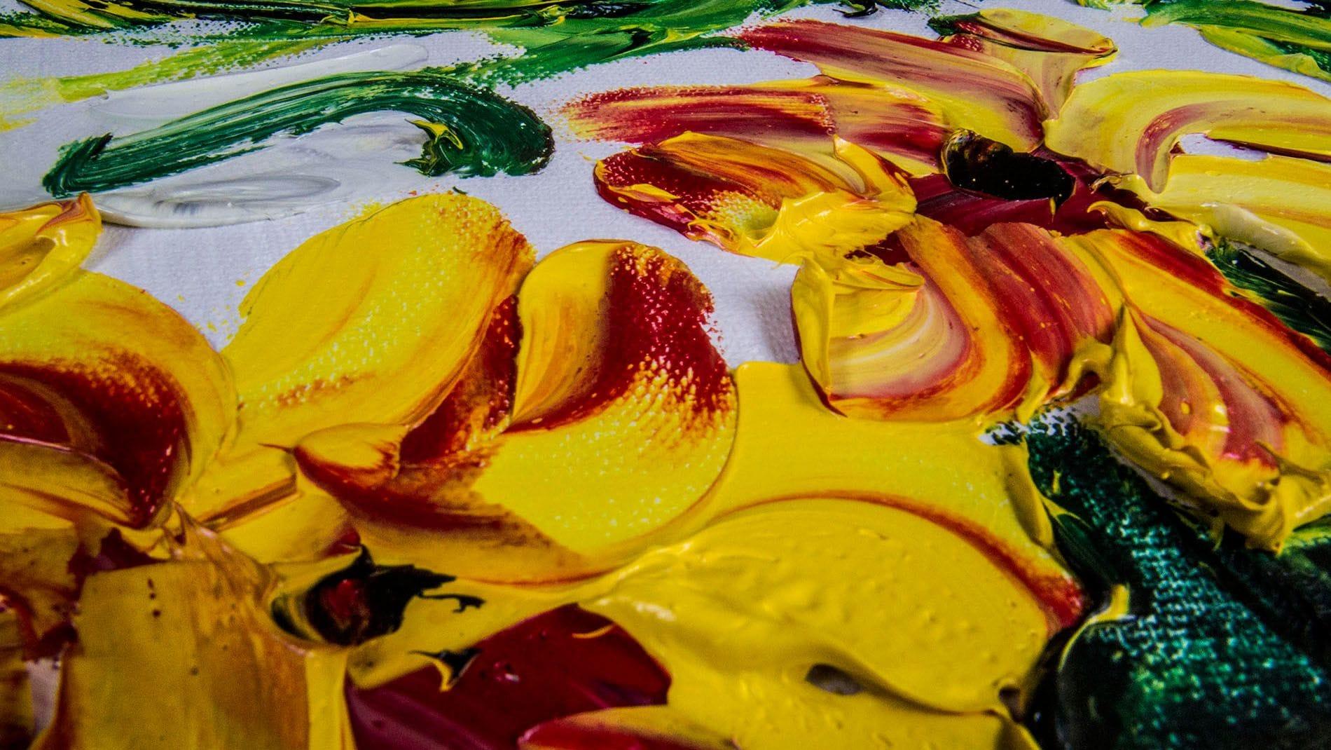 """КАРТИНА МАСЛОМ """" Летние цветы """" 90*120 см."""