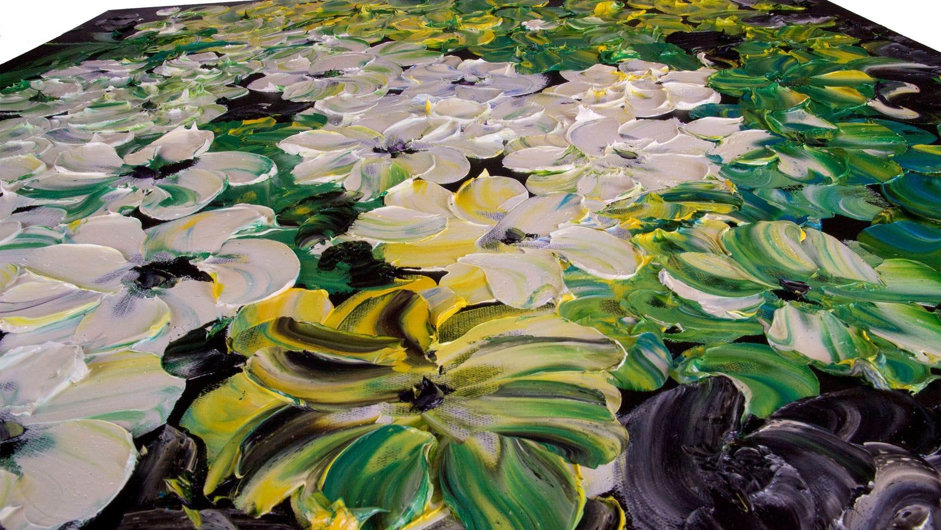 """КАРТИНА МАСЛОМ """" Красивые цветы """" 100*100 см."""