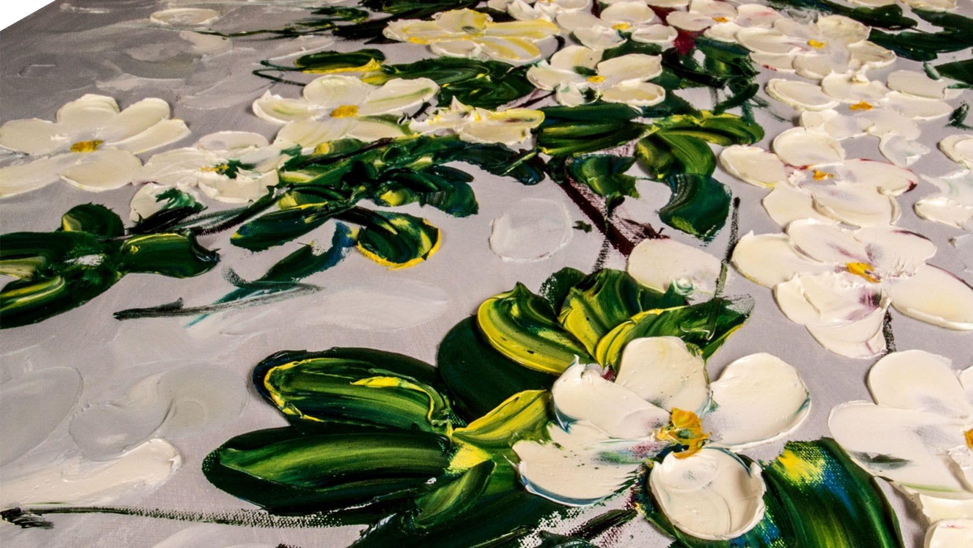 """КАРТИНА МАСЛОМ """"Цветы в  саду"""" 100*100 см."""
