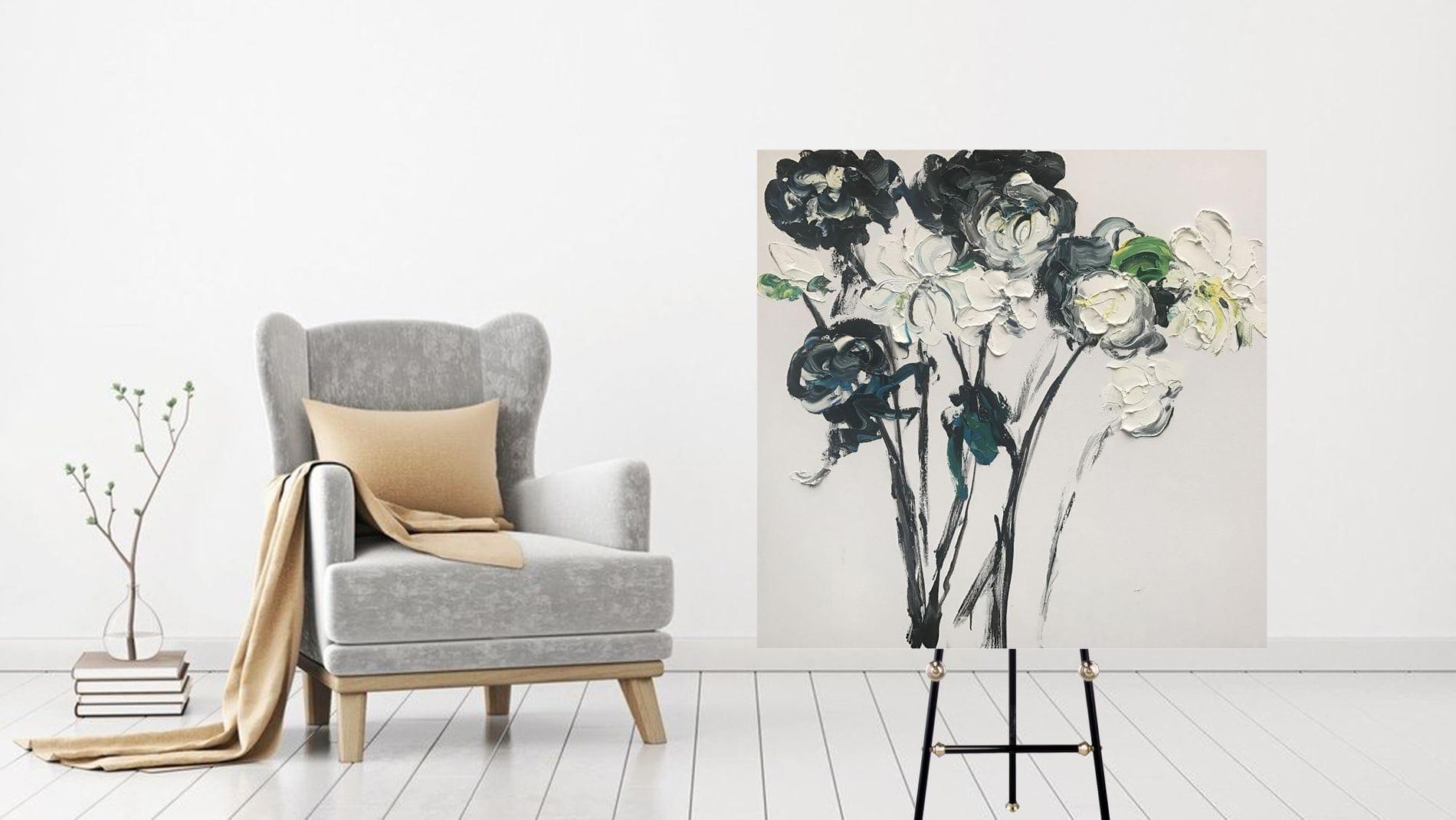 КАРТИНА МАСЛОМ Художественный букет цветов