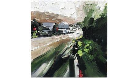 Картина маслом Зеленая улица