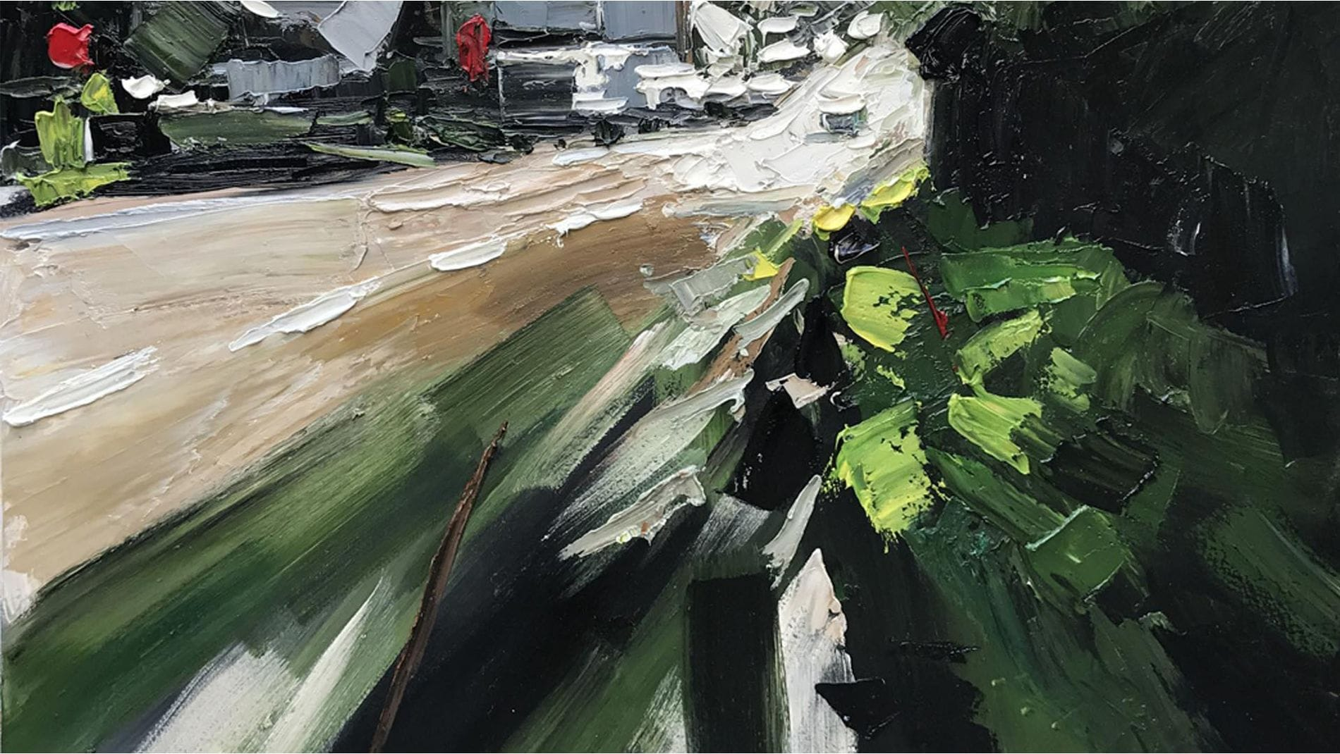 """Картина маслом """" Зеленая улица """""""