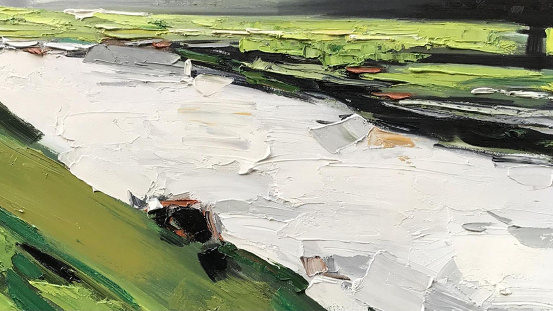 Картина маслом Русло реки