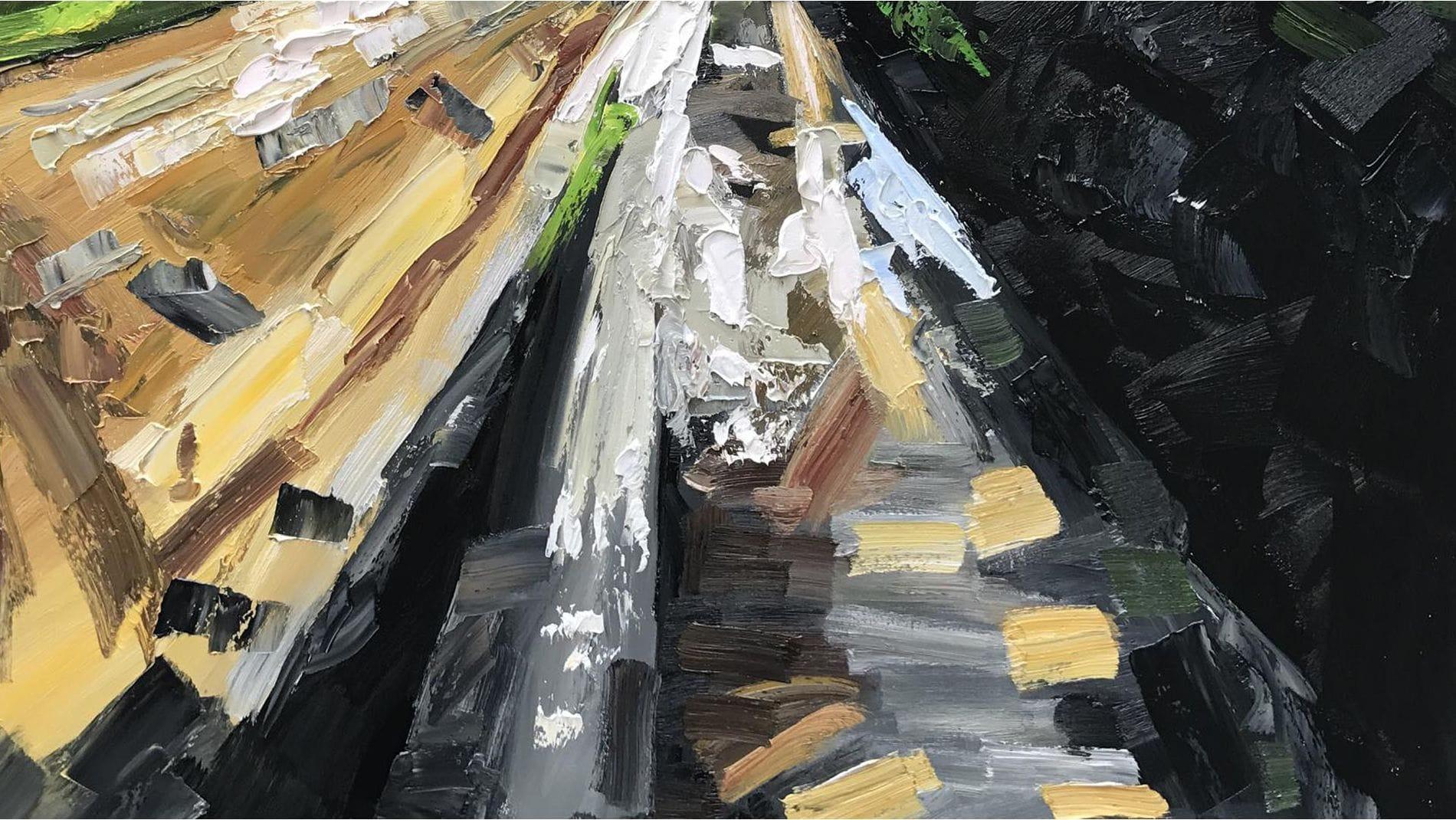 Картина маслом Горы