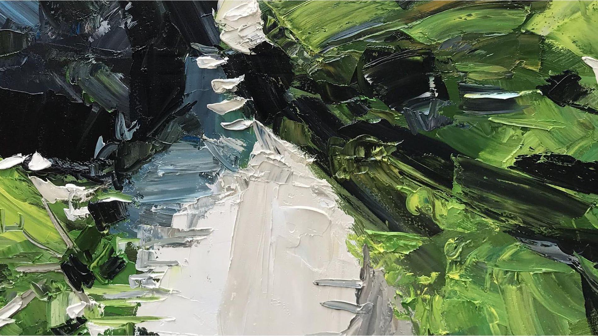 Картина маслом Зеленая тропа