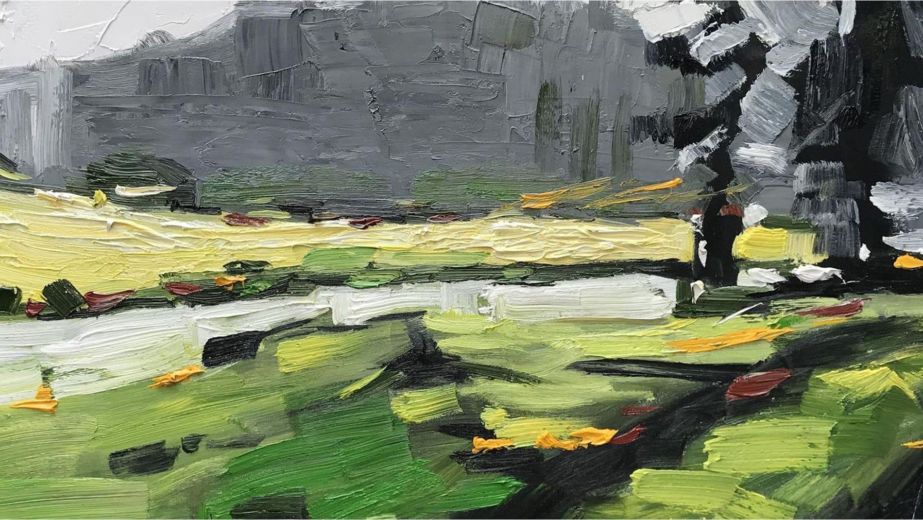 Картина маслом Зелёная фантазия - 2