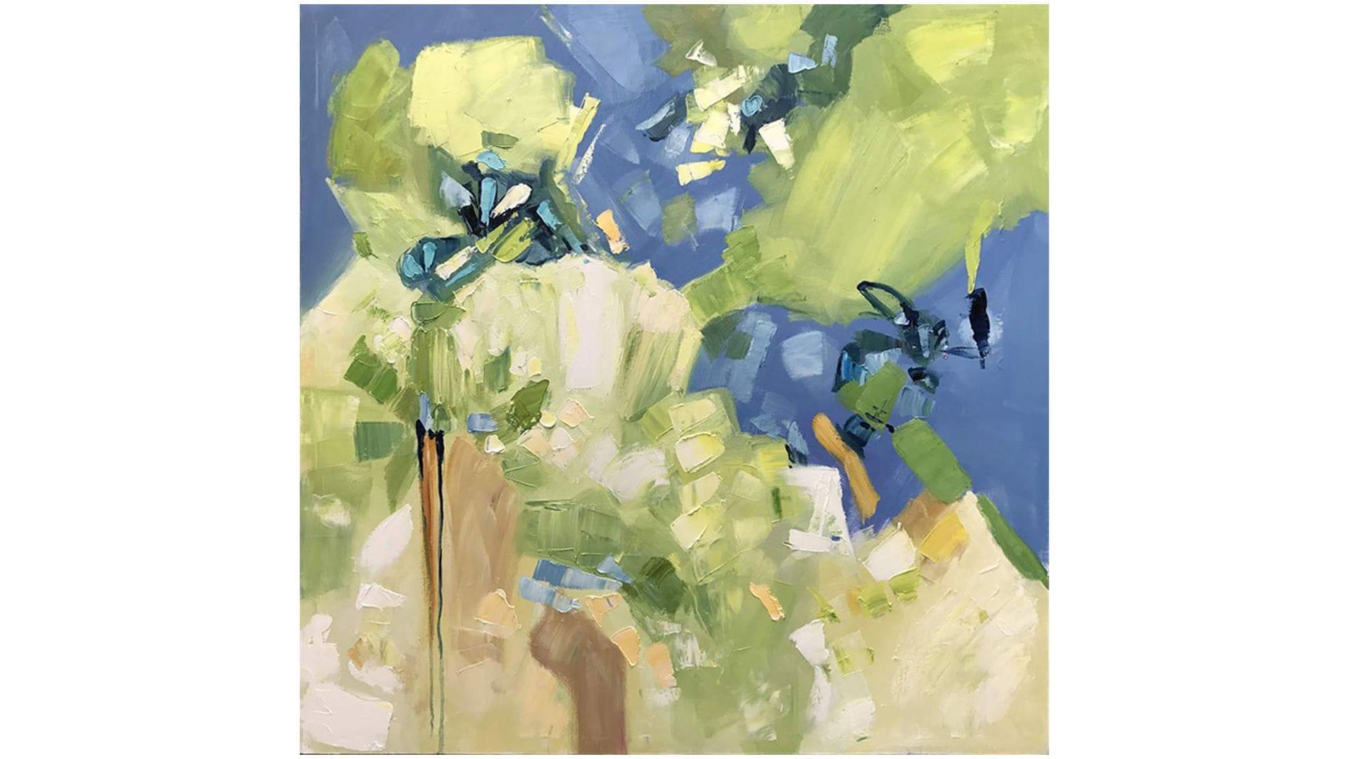 Картина маслом Зелёная фантазия