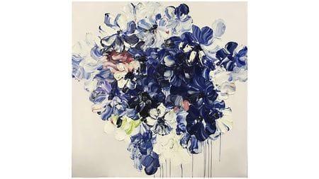 """Картина маслом """" Синие тюльпаны """""""