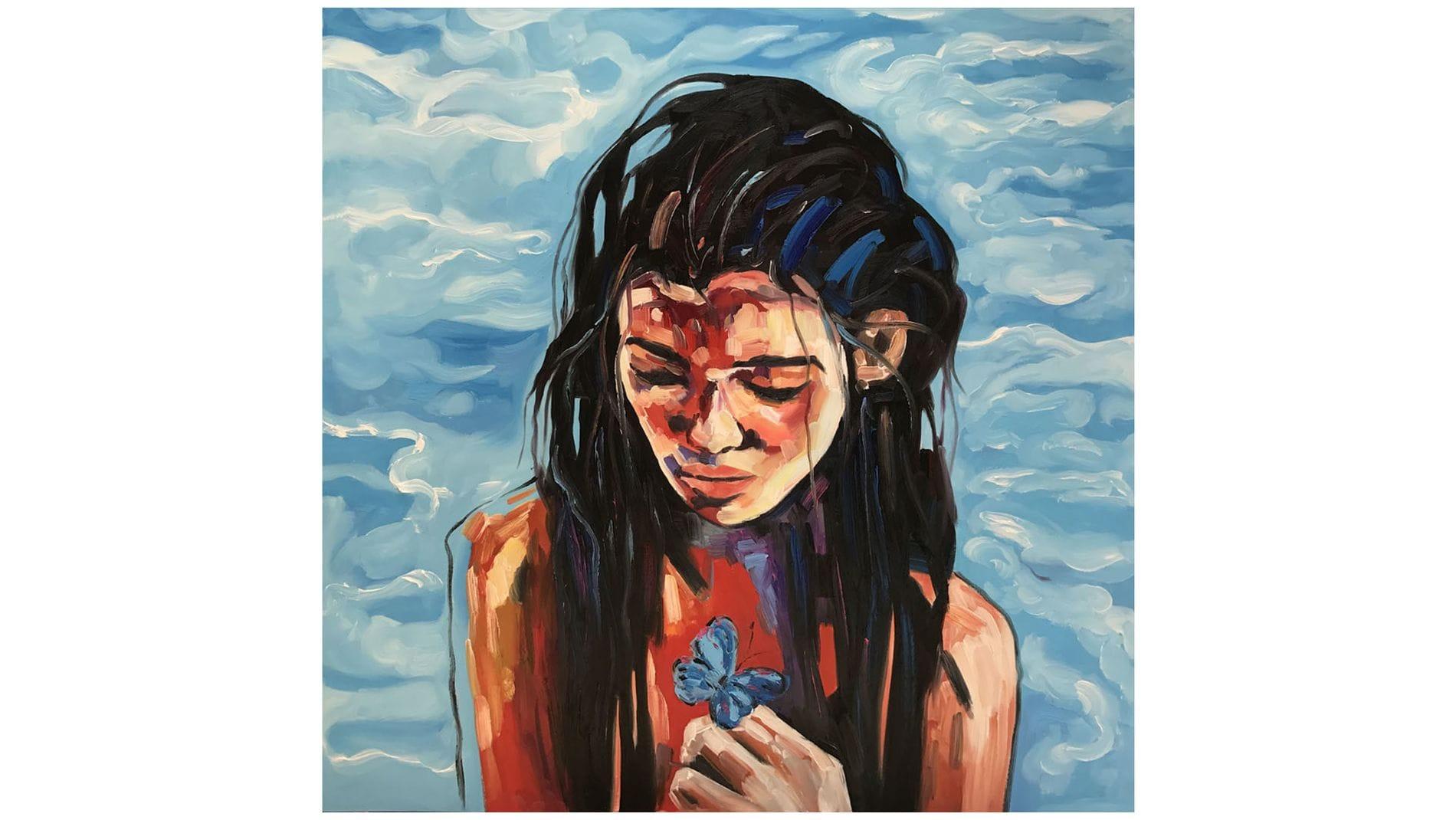 Картина маслом Девушка у моря