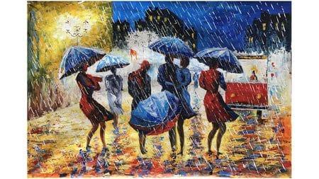 Картина маслом Дождь - 2
