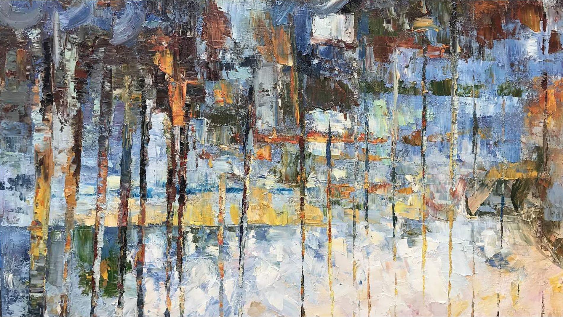 Картина маслом Осенний лес - 3