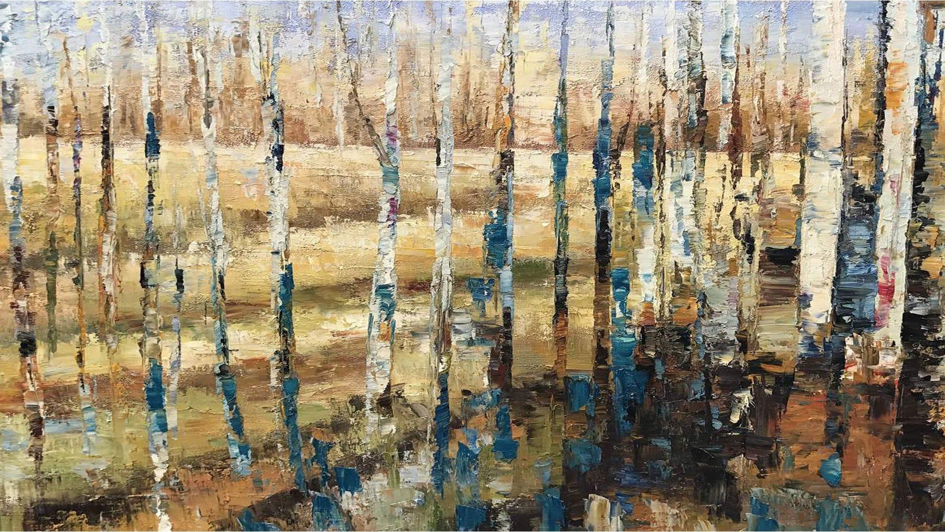 Картина маслом Осенний лес - 4