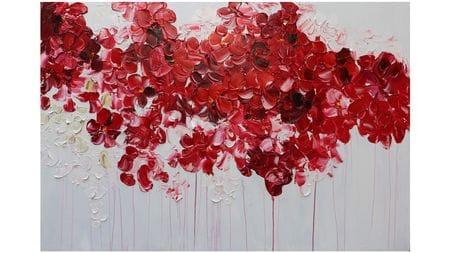 Картина маслом Красные цветы