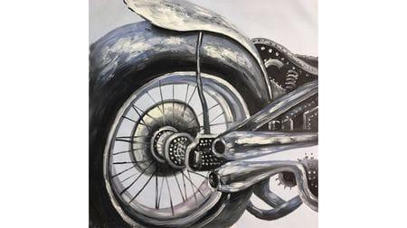 Картина маслом Мотоцикл