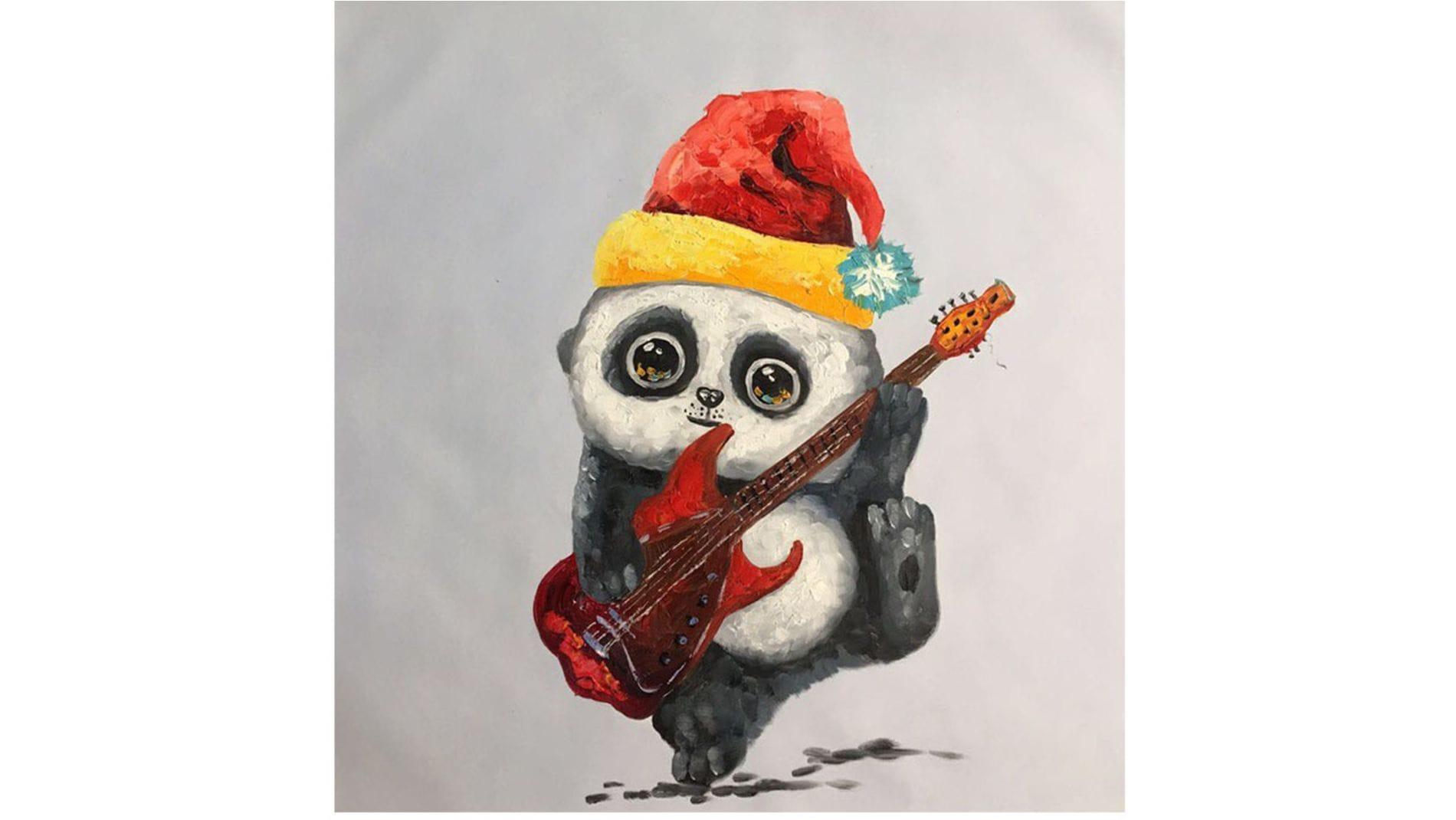Картина маслом Маленькая панда