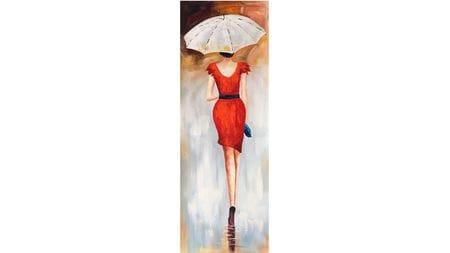 Картина маслом Зонтик