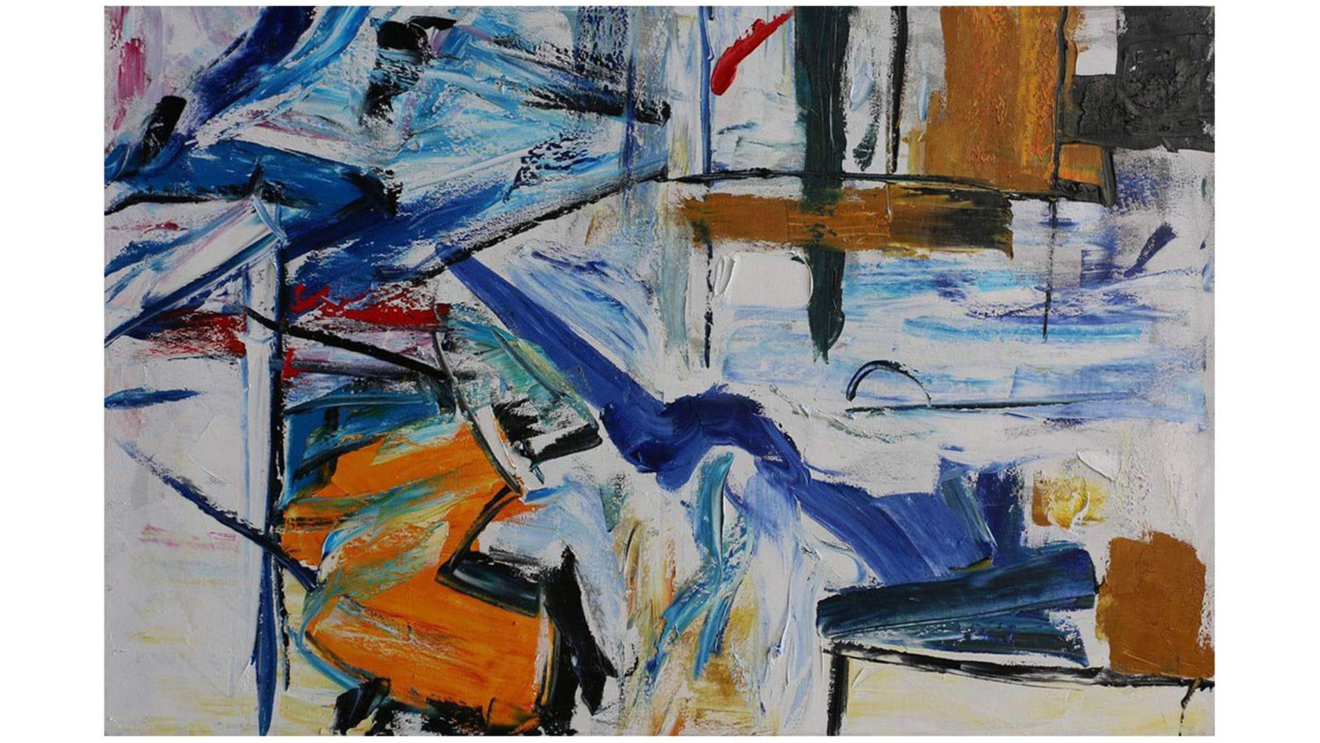 """Картина маслом """" Граффити - 5 """""""